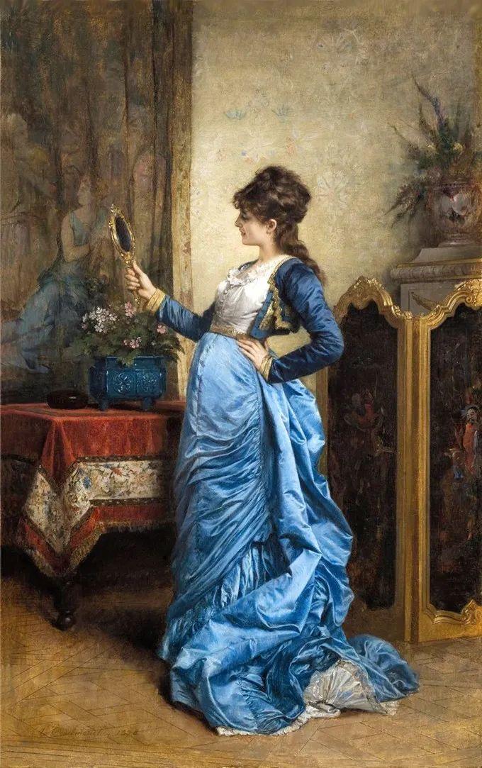 法国画家笔下的巴黎贵族女性,展示优雅之美!