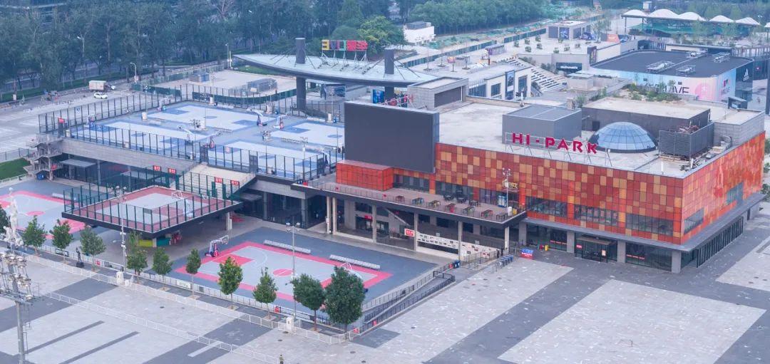因篮球项目暂不允许开展 五棵松将户外篮球场改成羽毛球场