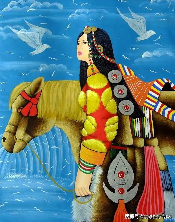 西藏绝美的唐卡画