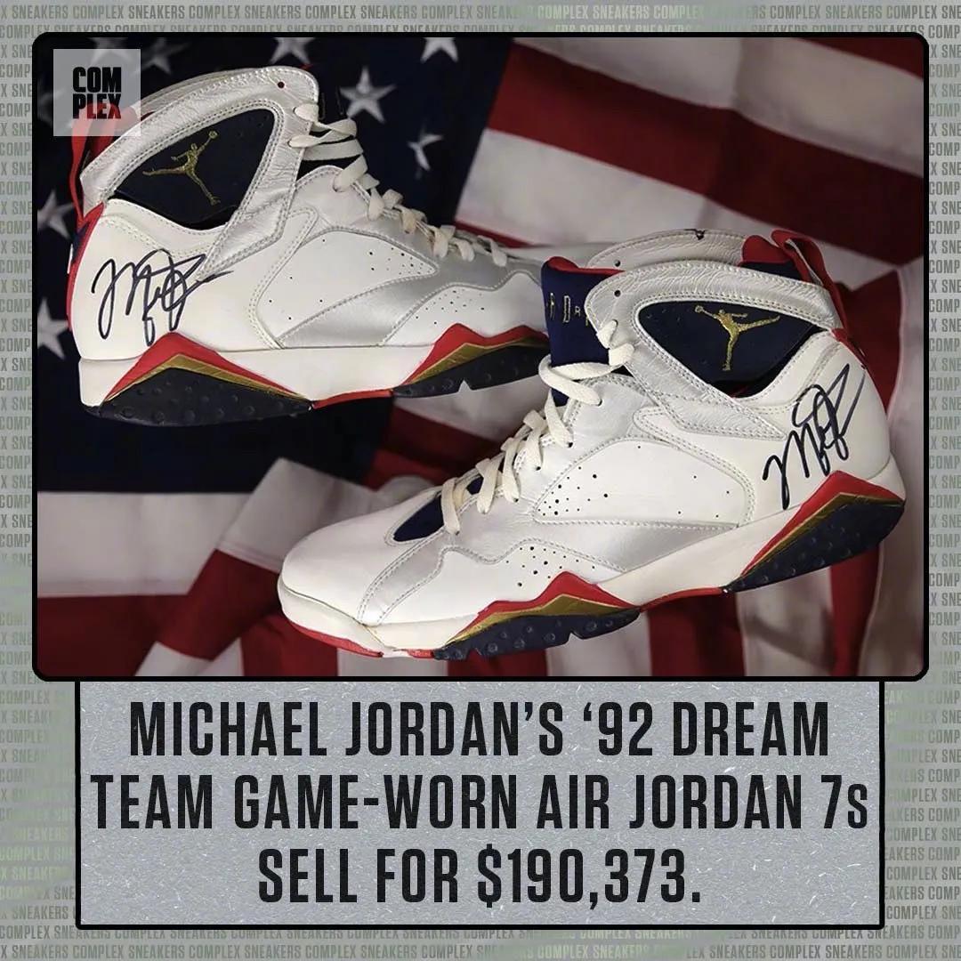 19万美元!乔丹亲穿AJ再次拍出天价!这才是NBA历史第一人