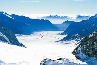 警惕全球温度升高 瑞士冰川消失90% 500多冰川融化